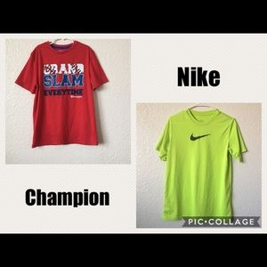Champion t-shirt and Nike nwot bundle
